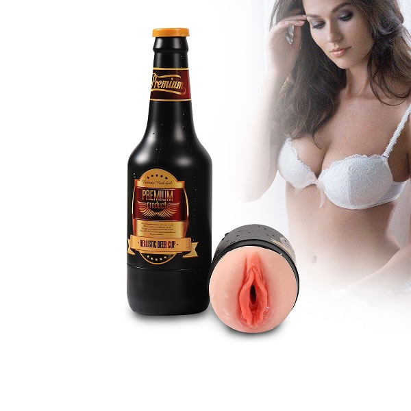 Masturbator Premium beer bottle
