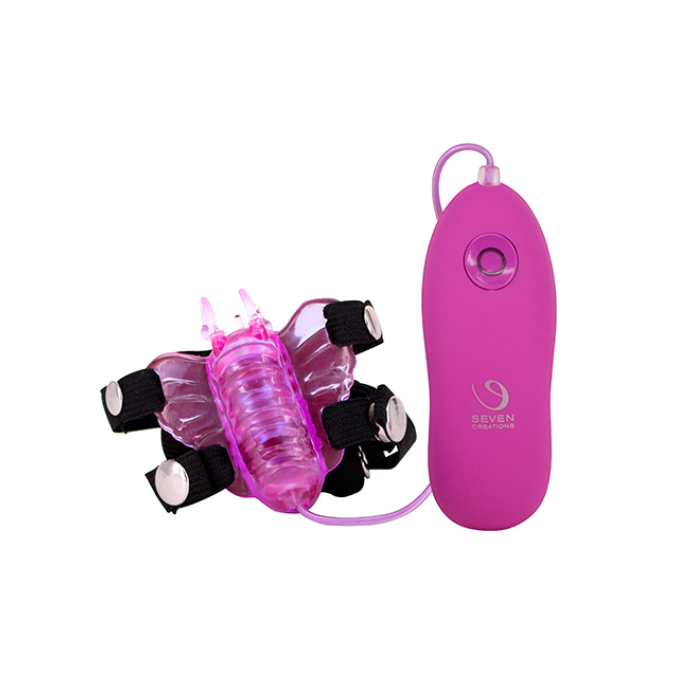 Butterfly stimulator 7 function pink